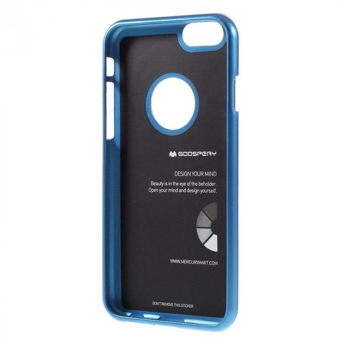 Husa iPhone 6 / iPhone 6S Goospery i JELLY - albastru 2