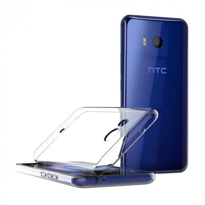 Husa HTC U11 silicon TPU extra slim 0.5 mm - transparent 1
