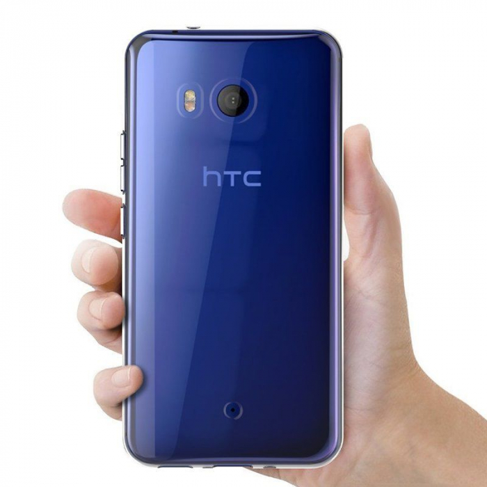Husa HTC U11 silicon TPU extra slim 0.5 mm - transparent 2