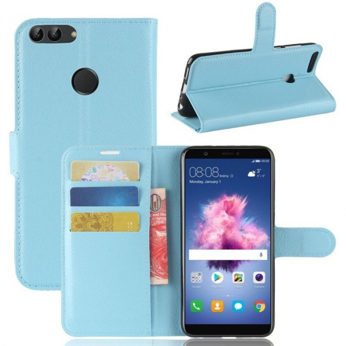 Husa Huawei P Smart / Enjoy 7S  Crazy Horse - albastru 4
