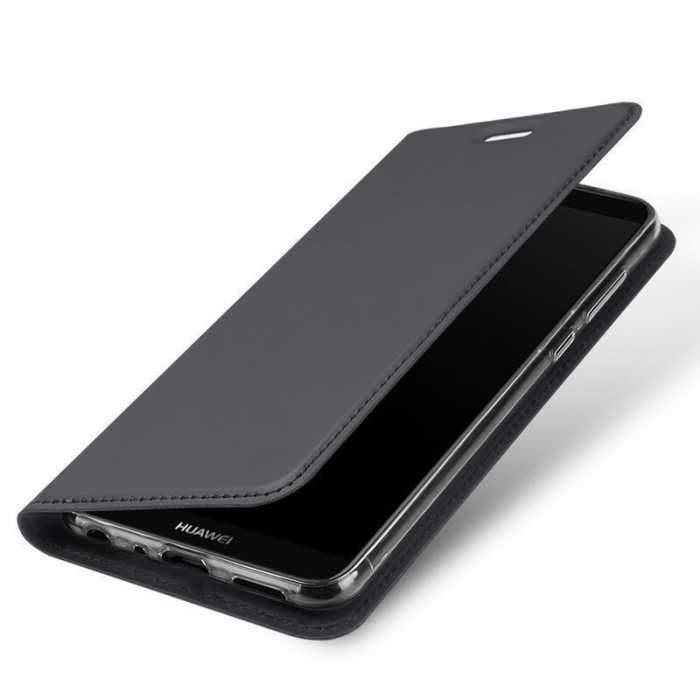 Husa   Huawei P Smart / Enjoy 7S  Dux Ducis din piele eco - grey 0