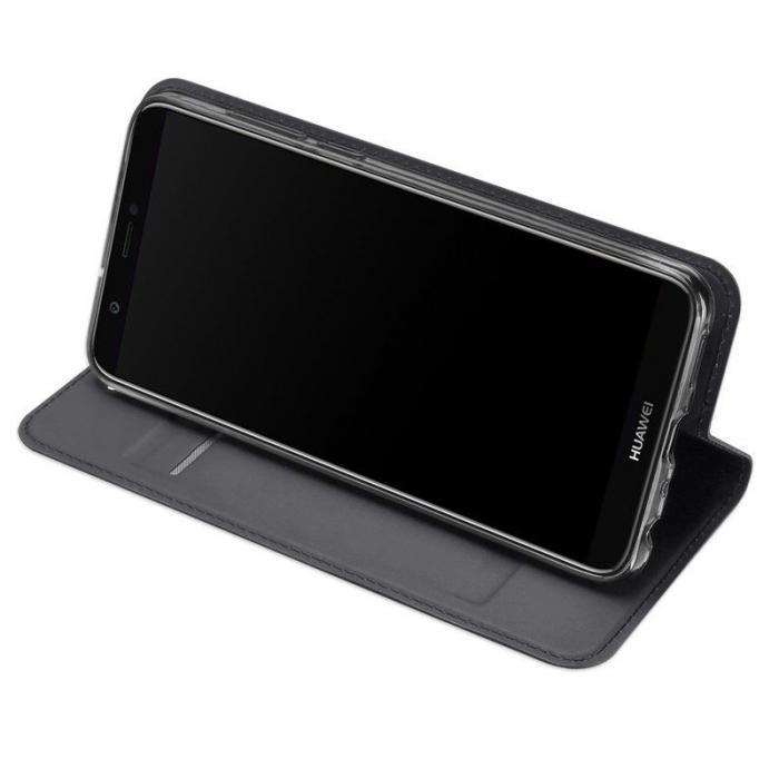 Husa   Huawei P Smart / Enjoy 7S  Dux Ducis din piele eco - grey 2