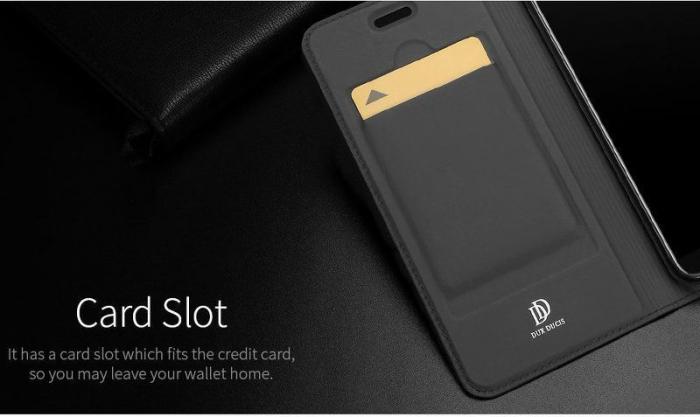 Husa   Huawei P Smart / Enjoy 7S  Dux Ducis din piele eco - grey 6