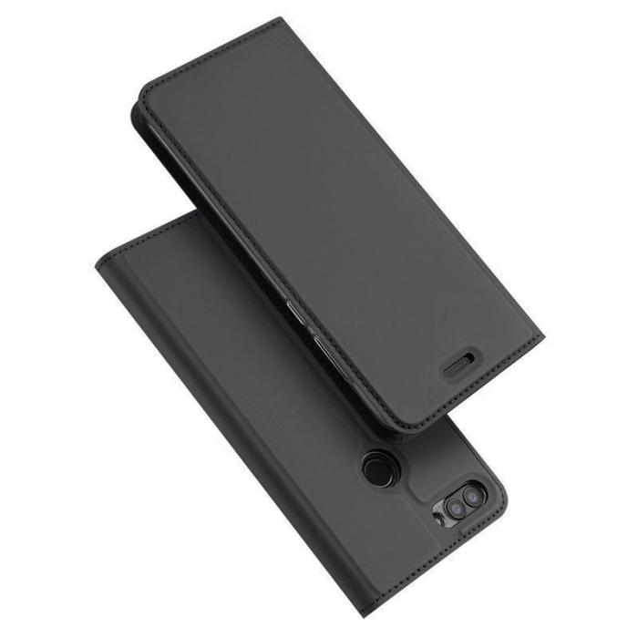 Husa   Huawei P Smart / Enjoy 7S  Dux Ducis din piele eco - grey 1