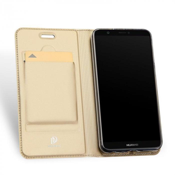 Husa   Huawei P Smart / Enjoy 7S  Dux Ducis din piele eco - gold 3