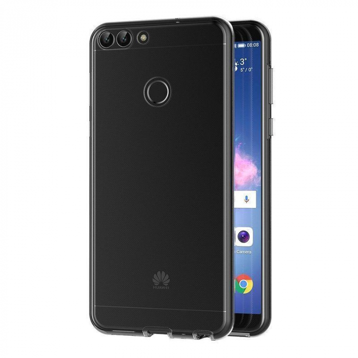 Husa   Huawei   P Smart / Enjoy 7S  Silicon TPU 360 grade ( fata-spate ) - transparent 4