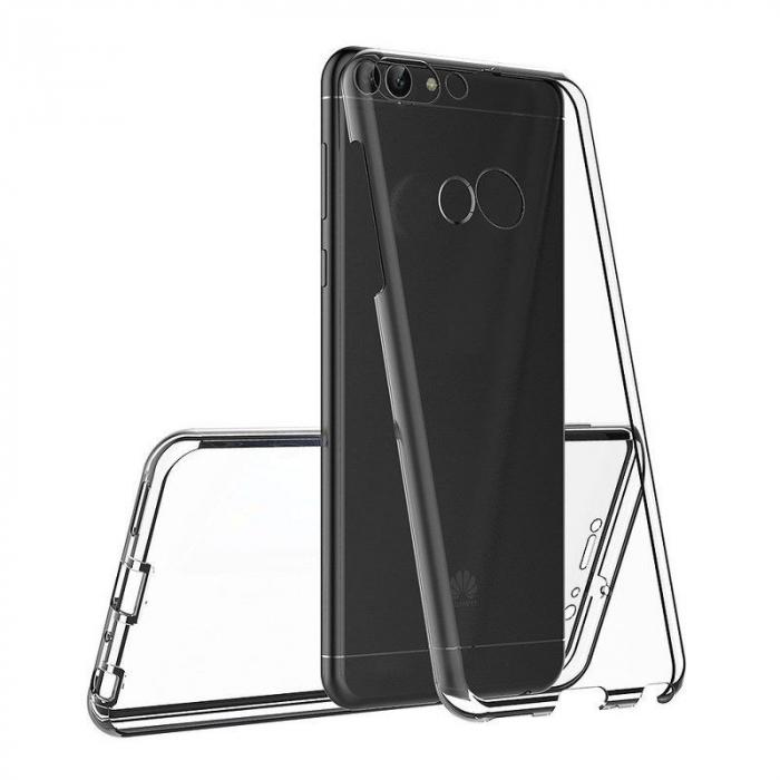 Husa   Huawei   P Smart / Enjoy 7S  Silicon TPU 360 grade ( fata-spate ) - transparent 6