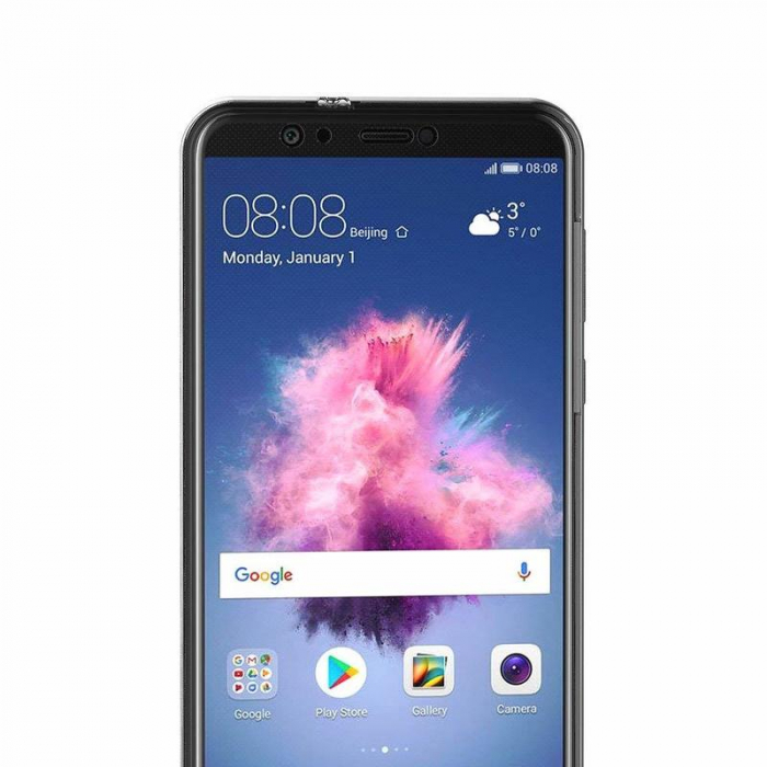 Husa   Huawei   P Smart / Enjoy 7S  Silicon TPU 360 grade ( fata-spate ) - transparent 1