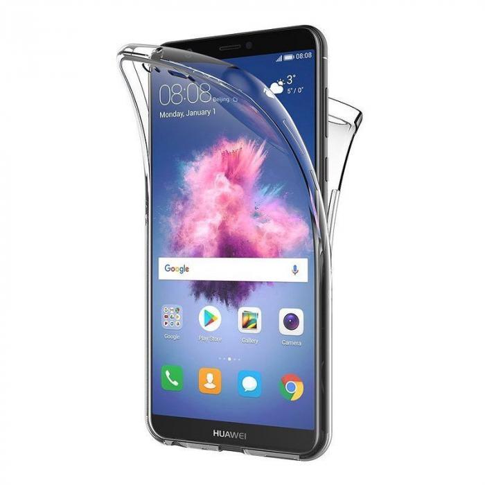 Husa   Huawei   P Smart / Enjoy 7S  Silicon TPU 360 grade ( fata-spate ) - transparent 0