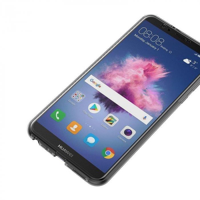 Husa   Huawei   P Smart / Enjoy 7S  Silicon TPU 360 grade ( fata-spate ) - transparent 3