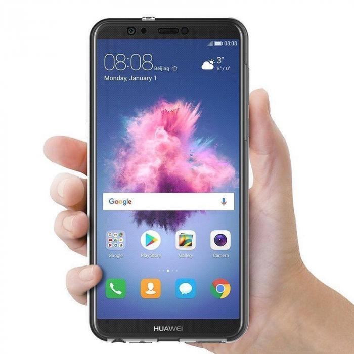 Husa   Huawei   P Smart / Enjoy 7S  Silicon TPU 360 grade ( fata-spate ) - transparent 2
