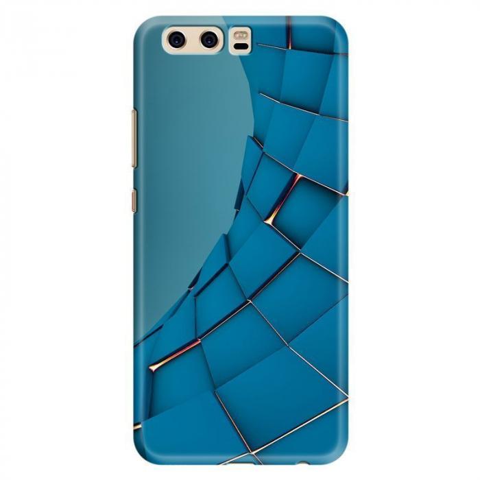 Husa Huawei P10 Custom Hard Case - Blue Squares 0