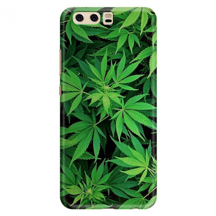 Husa Huawei P10 Custom Hard Case - Green Leaf 0