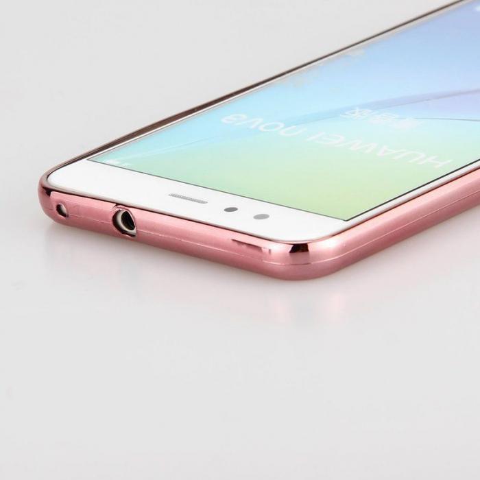 Husa  Huawei P10 Lite Plating  Silicon TPU Ultra Thin  - rose 3
