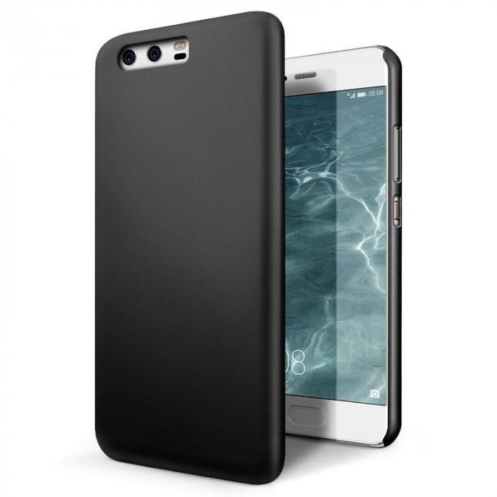 Husa  Huawei P10 Plastic Cauciucat - negru 0
