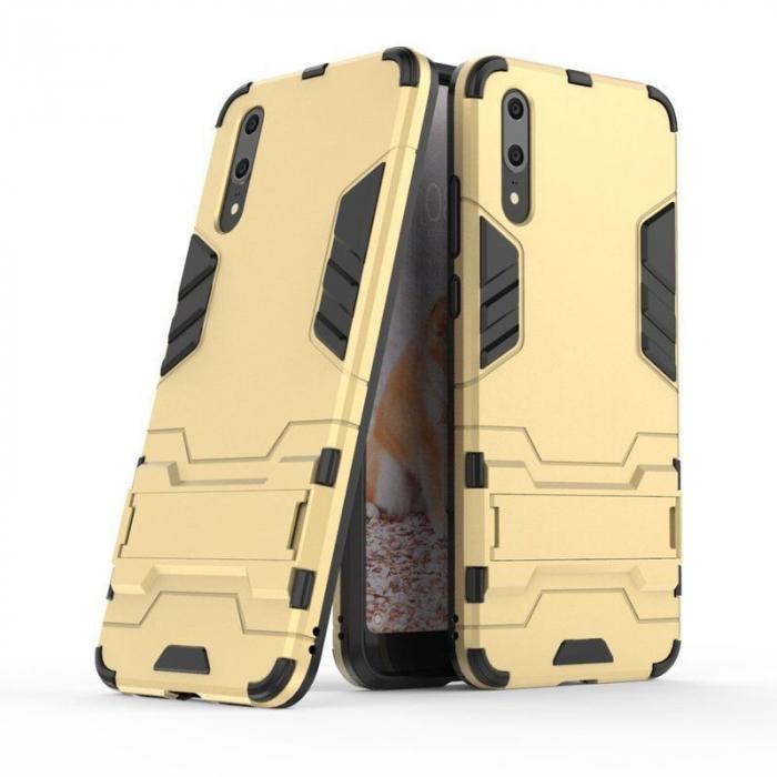 Husa   Huawei P20  Hybrid Stand - gold 1