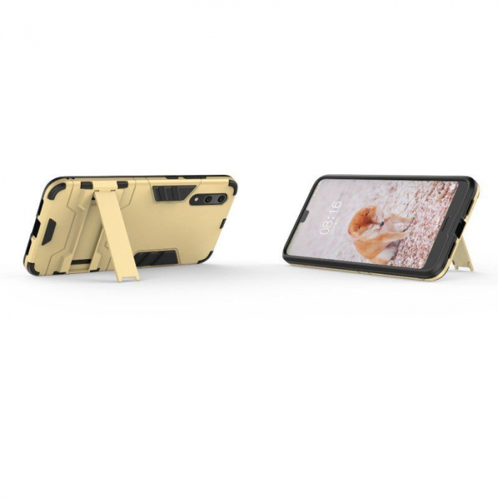 Husa   Huawei P20  Hybrid Stand - gold 4