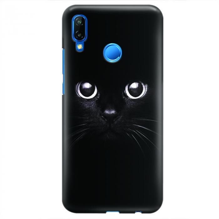 Husa Huawei P20 Lite Custom Hard Case - Black Cat 0