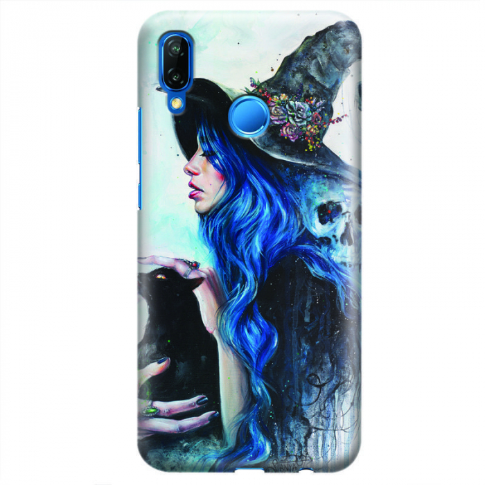 Husa Huawei P20 Lite   Custom Hard Case - Blue Witch 0