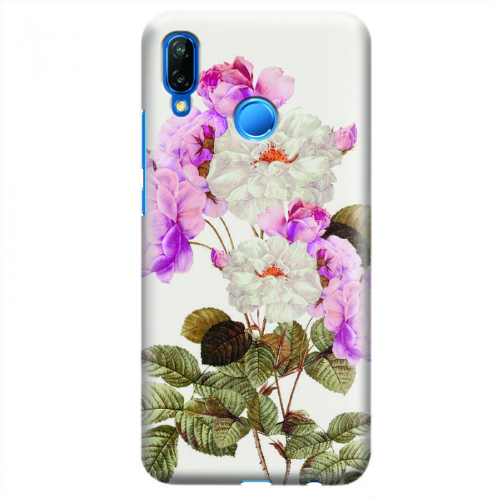 Husa Huawei P20 Lite Custom Hard Case - Flowers 0