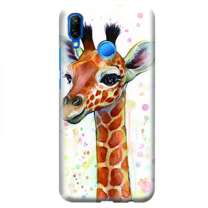Husa Huawei P20 Lite   Custom Hard Case - Giraffe 0