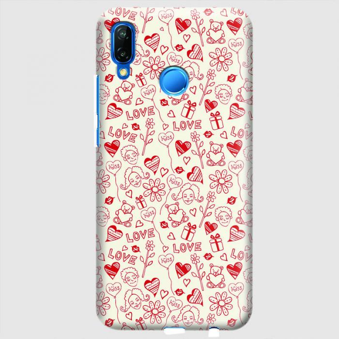 Husa Huawei P20 Lite Custom Hard Case - Love Pattern.1 0