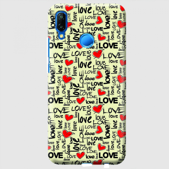 Husa Huawei P20 Lite Custom Hard Case - Love Pattern.2 0