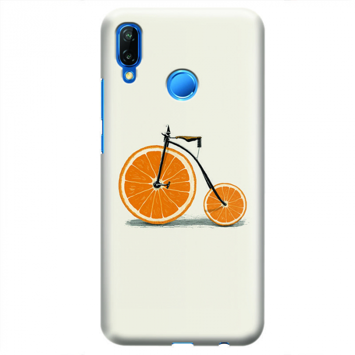 Husa Huawei P20 Lite   Custom Hard Case - Orange Bicycle 0