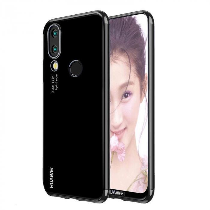 Husa    Huawei P20 Lite Silicon TPU Plating Ultra Thin  - negru 0