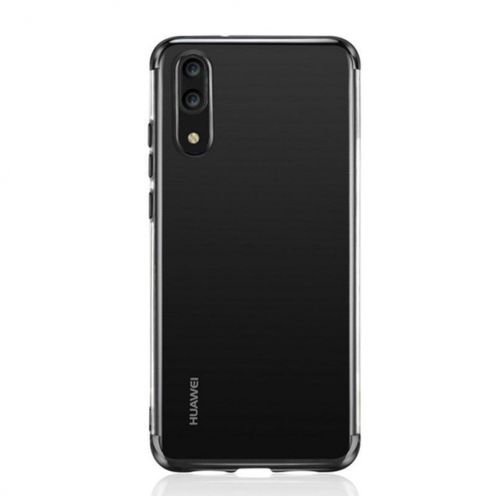 Husa    Huawei P20 Lite Silicon TPU Plating Ultra Thin  - negru 2