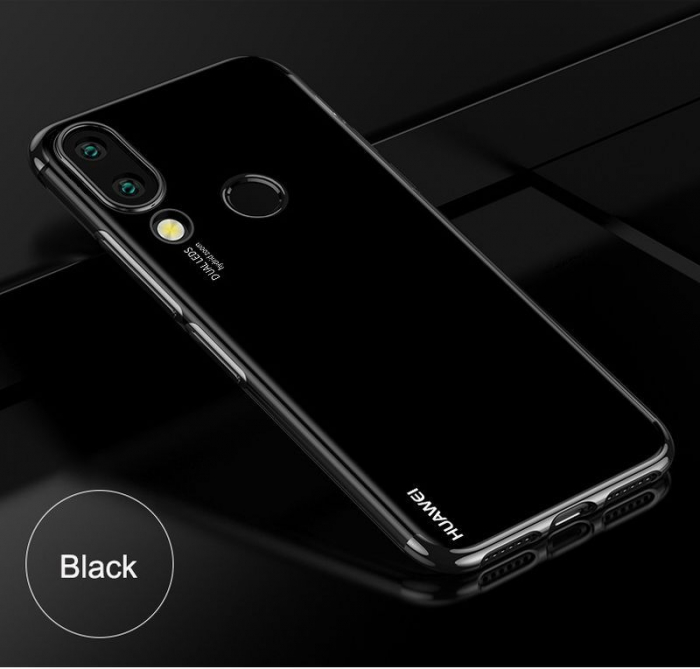 Husa    Huawei P20 Lite Silicon TPU Plating Ultra Thin  - negru 3
