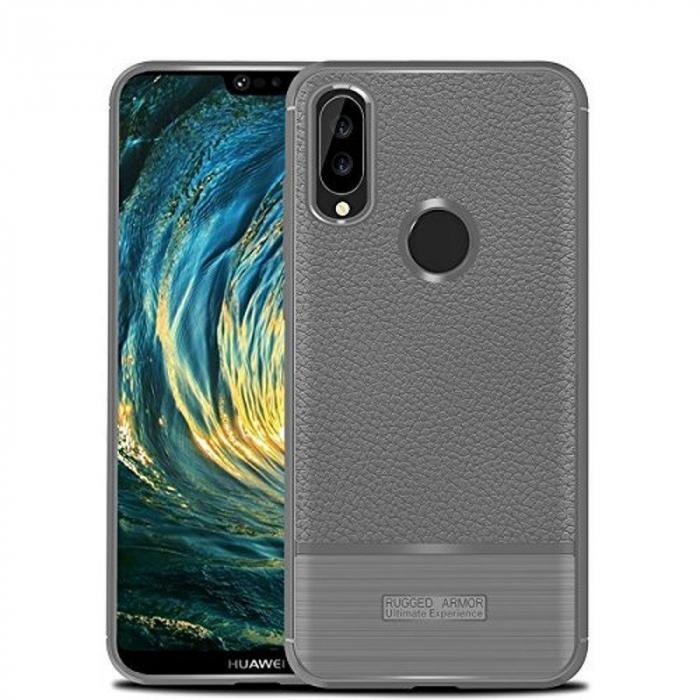 Husa Huawei P20 Lite Grain Silicon Tpu - gri 0