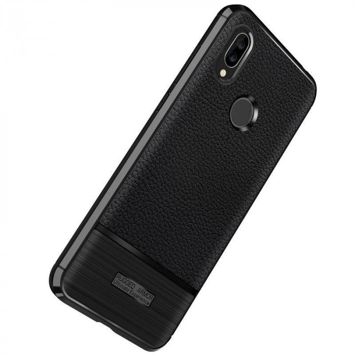 Husa Huawei P20 Lite Grain Silicon Tpu - negru 2