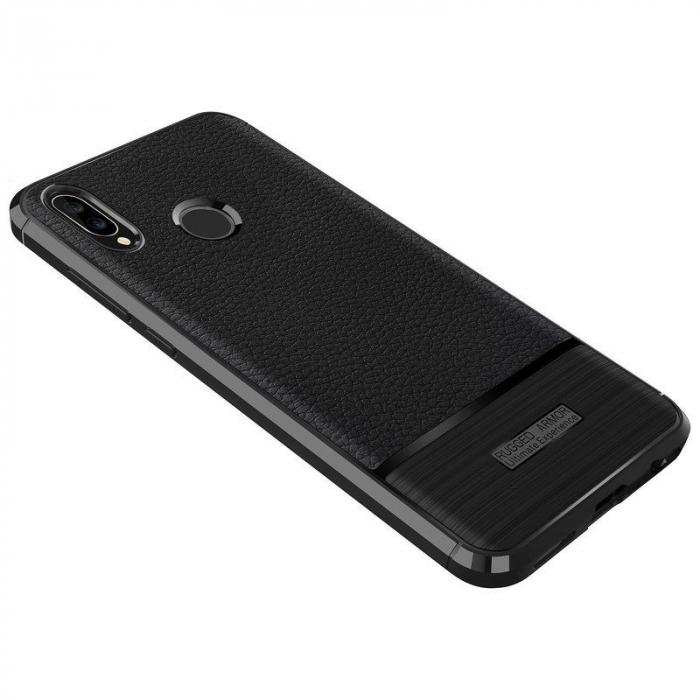 Husa Huawei P20 Lite Grain Silicon Tpu - negru 4