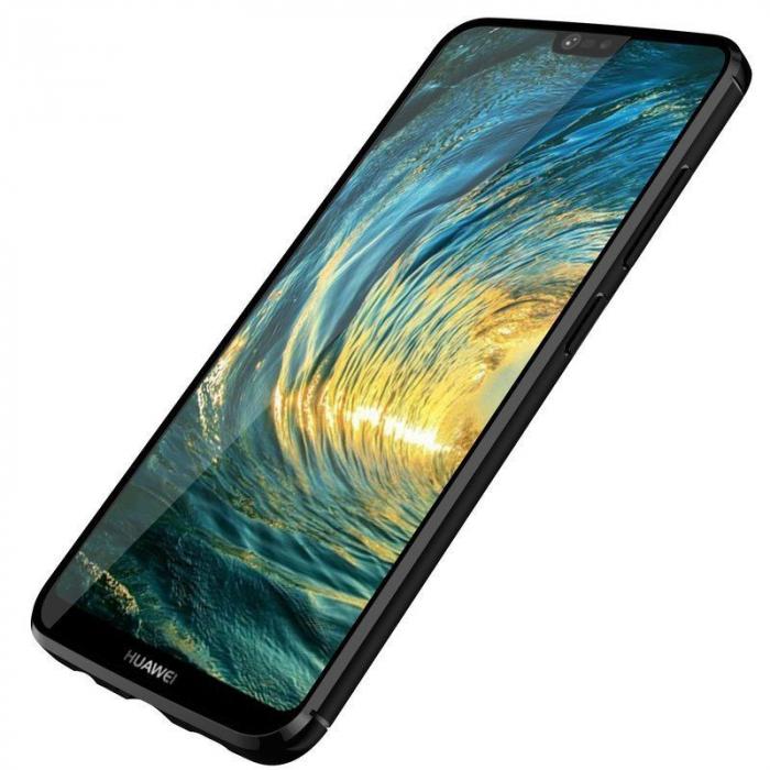 Husa Huawei P20 Lite Grain Silicon Tpu - negru 3