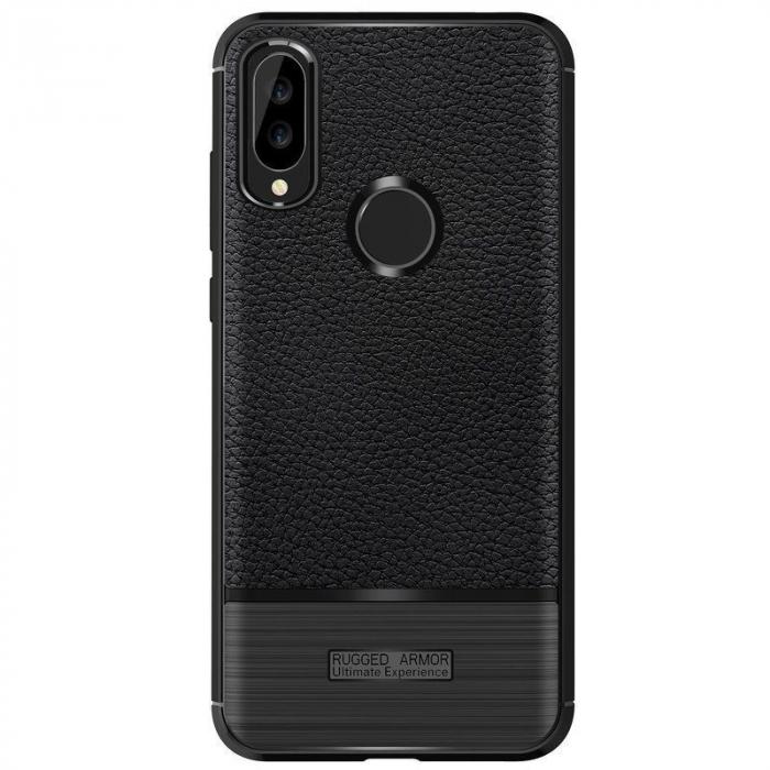 Husa Huawei P20 Lite Grain Silicon Tpu - negru 6