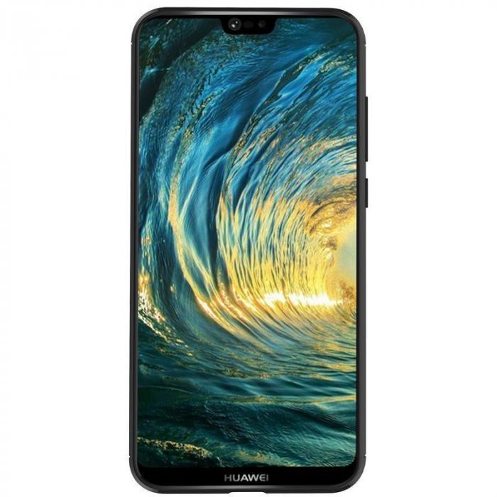 Husa Huawei P20 Lite Grain Silicon Tpu - negru 8