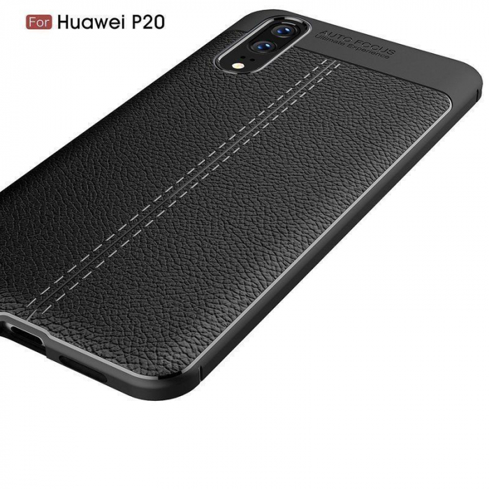 Husa Huawei P20 Tpu Grain - negru 2