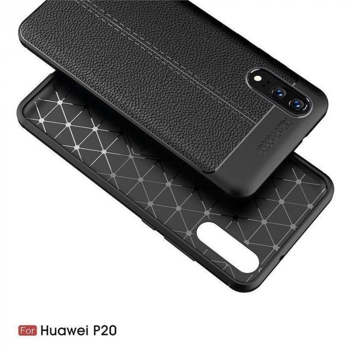 Husa Huawei P20 Tpu Grain - negru 3