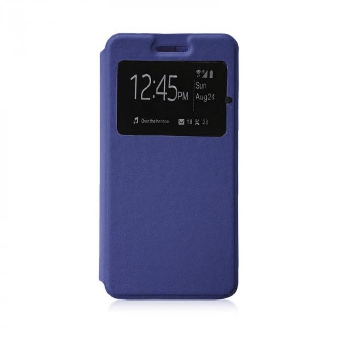 Husa Huawei P9 Lite Mini 2017 Flip Window - bleumarin 0
