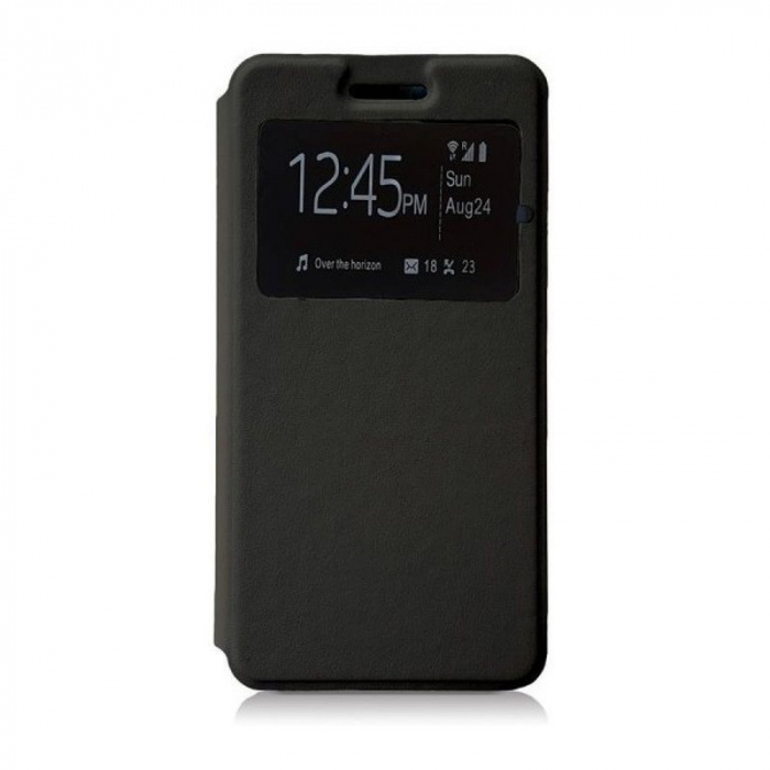 Husa Huawei P9 Lite Mini 2017 Flip Window - negru 0