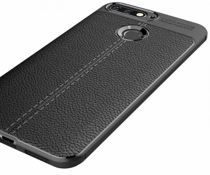 Husa Huawei Y6 ( 2018 ) Grain Silicon Tpu - negru 1