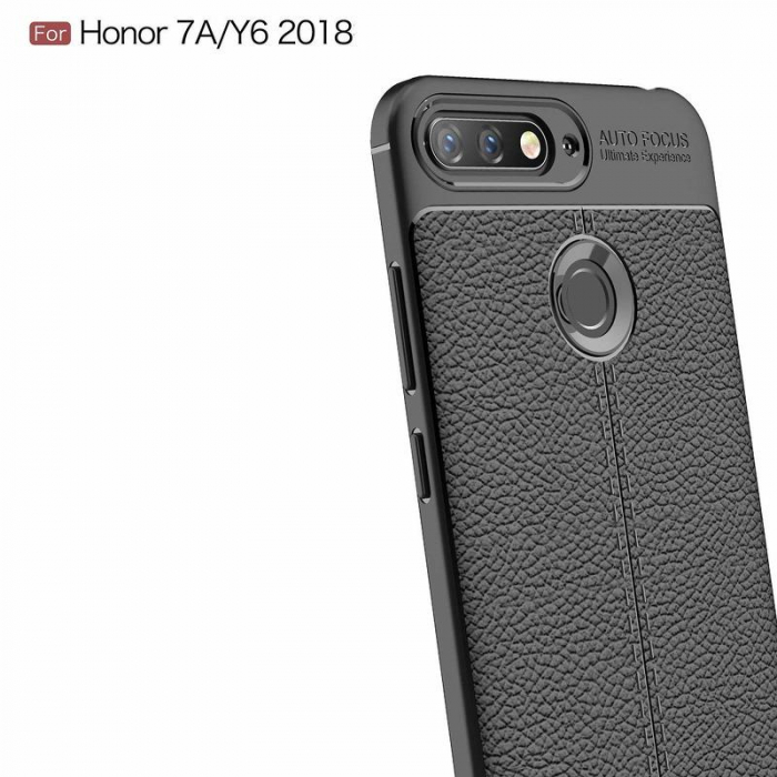 Husa Huawei Y6 ( 2018 ) Grain Silicon Tpu - negru 3