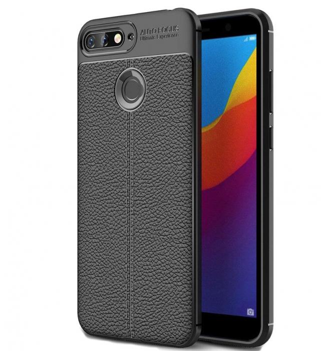 Husa Huawei Y6 ( 2018 ) Grain Silicon Tpu - negru 0