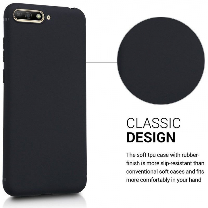 Husa Huawei Y6 2018 Silicon Matte Ultra Thin - negru 1