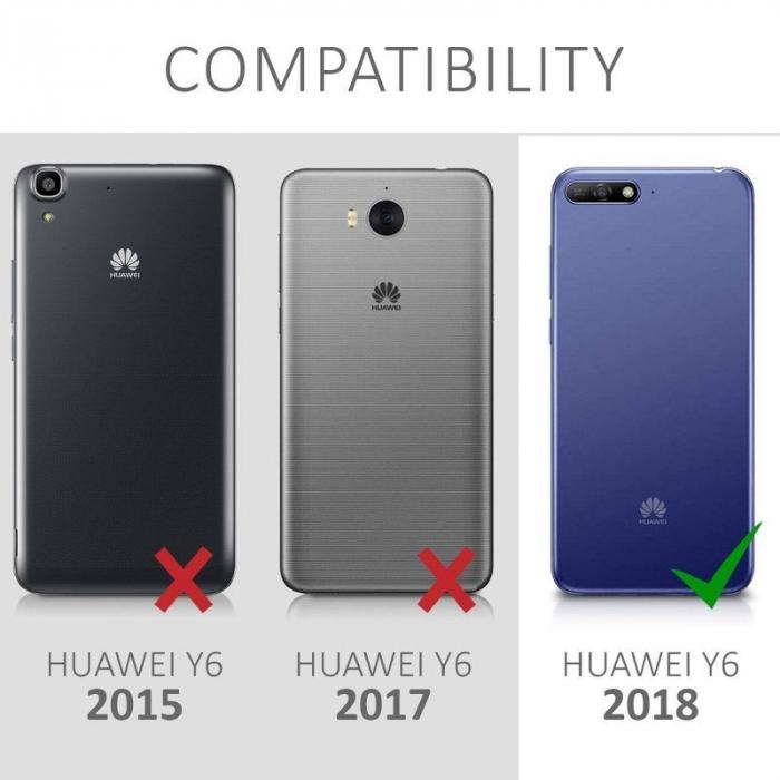 Husa Huawei Y6 2018 Silicon Matte Ultra Thin - negru 3