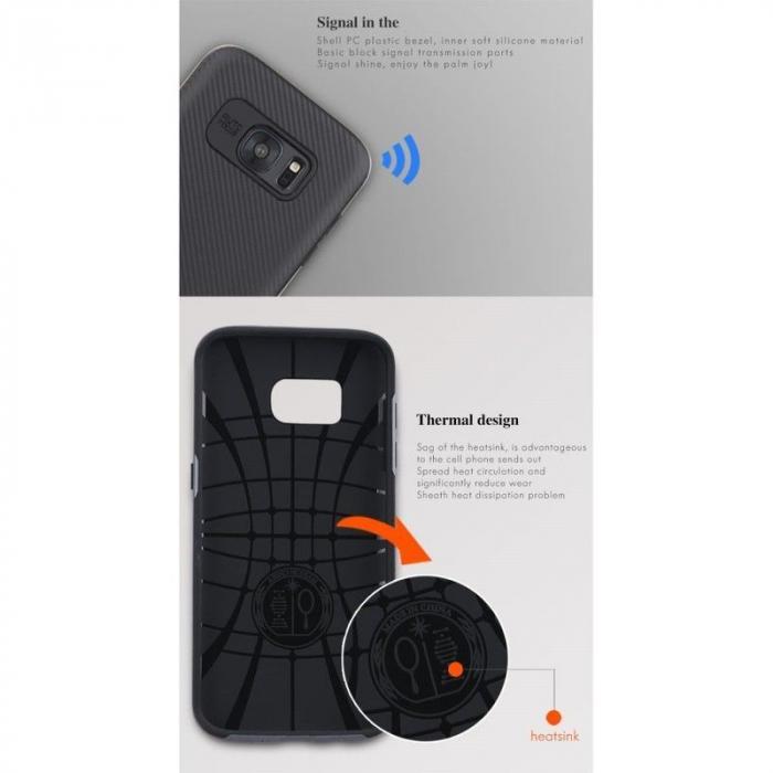 Husa Ipaky Samsung Galaxy S7 Edge - argintiu 6