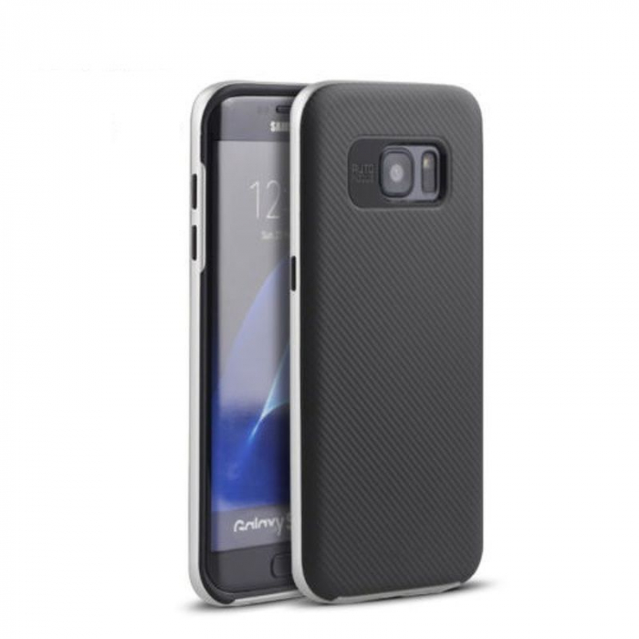 Husa Ipaky Samsung Galaxy S7 Edge - argintiu 0