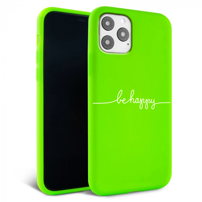 Husa iPhone 11 - Silicon Matte - Be Happy [6]