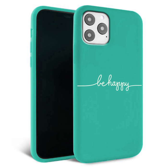 Husa iPhone 11 - Silicon Matte - Be Happy [4]